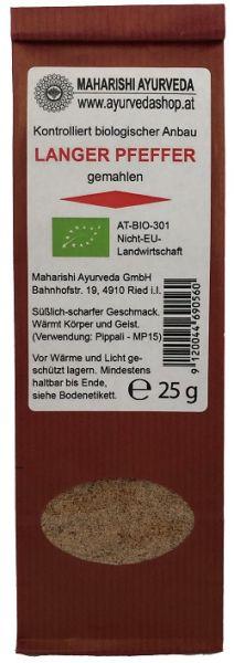 Langer Pfeffer gemahlen, Bio, 25 g