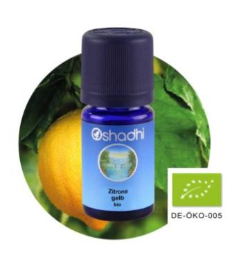 Aromaöl Zitrone gelb, Bio, 5 ml